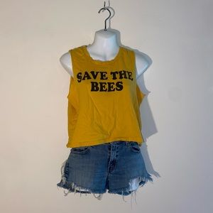 Grayson Threads Save The Bees Crop Tank Top
